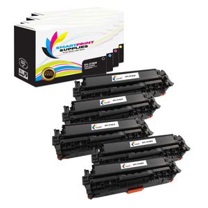 HP 312A Replacement 4 Colors Toner Cartridge by Smart Print Supplies /2,400 per black cartridge, and 2,700 per color cartridge Pages