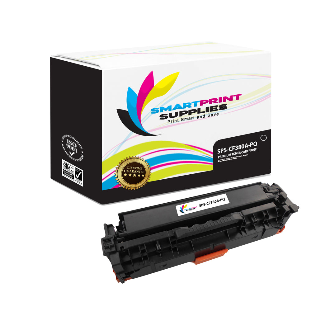 HP 312A/312X CF380A Premium Replacement Black Toner Cartridge by Smart Print Supplies
