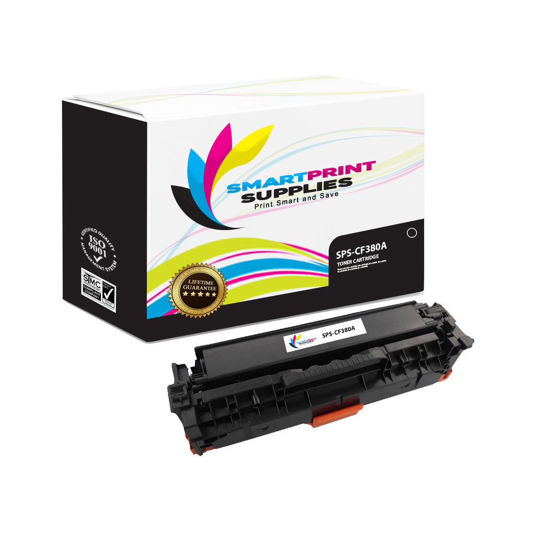 HP 312A/312X CF380A Replacement Black Toner Cartridge by Smart Print Supplies