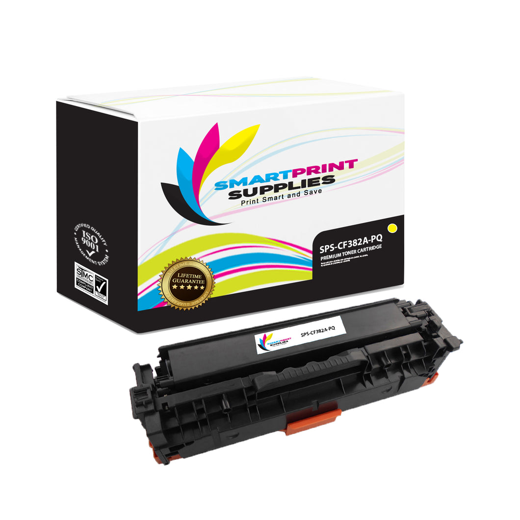 HP 312A/312X CF382A Premium Replacement Yellow Toner Cartridge by Smart Print Supplies