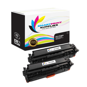 2 Pack HP 312A/312X CF380X Replacement Black High Yield Toner Cartridge by Smart Print Supplies