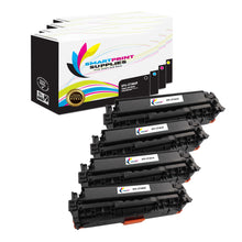 4 Pack HP 312A/312X Replacement (CMYK) High Yield Toner Cartridge by Smart Print Supplies