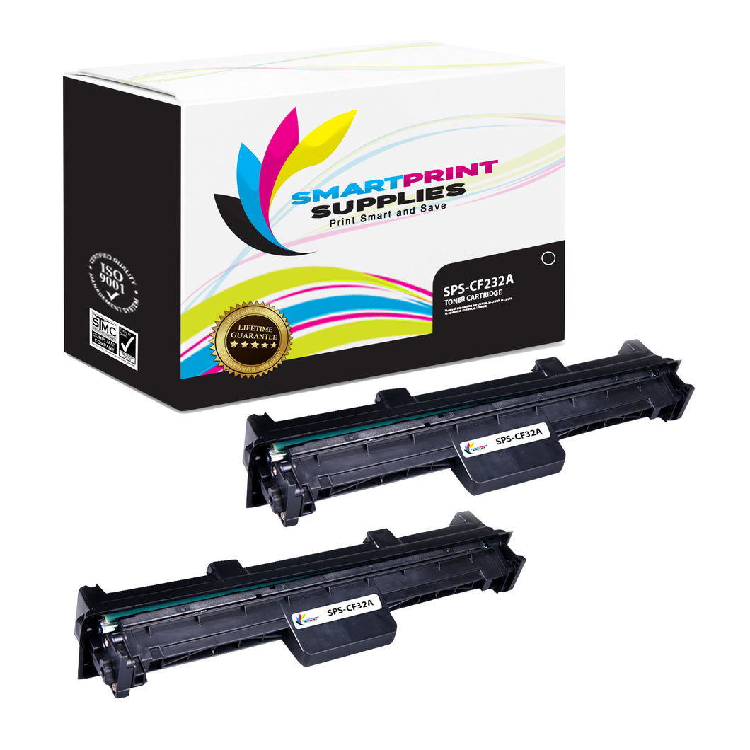 2 Pack HP 32A Black Drum Unit Replacement By Smart Print Supplies