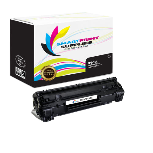 1 Pack HP 35A Premium Replacement Black Toner Cartridge by Smart Print Supplies