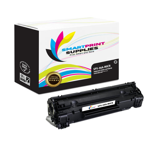 HP 36A CB436A Replacement Black MICR Toner Cartridge by Smart Print Supplies
