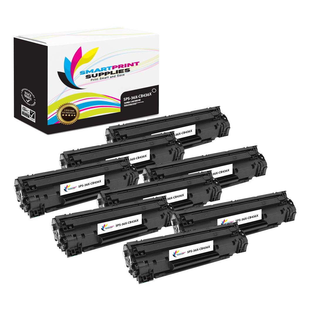 8 Pack HP 36X Black Jumbo Yield Toner Replacement By Smart Print Supplies