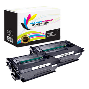 2 Pack HP CF237X Black High Yield Toner Cartridge Replacement By Smart Print Supplies