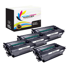 4 Pack HP CF237X Black High Yield Toner Cartridge Replacement By Smart Print Supplies