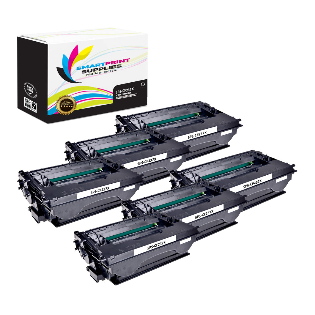8 Pack HP CF237X Black High Yield Toner Cartridge Replacement By Smart Print Supplies