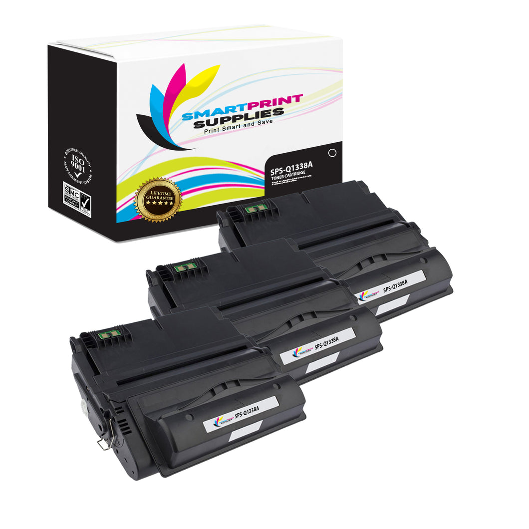 3 Pack HP 38A Black Toner Cartridge Replacement By Smart Print Supplies