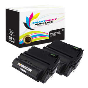 2 Pack HP 38A Q1338A Replacement Black MICR Toner Cartridge by Smart Print Supplies