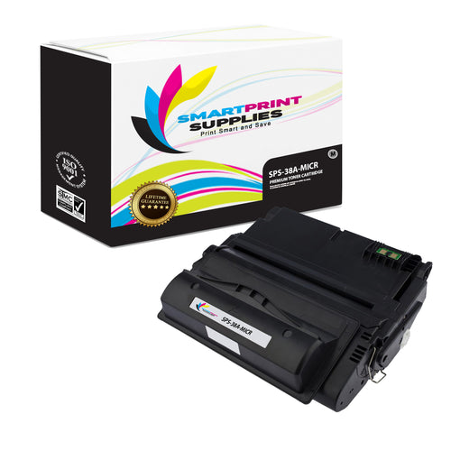 HP 38A Q1338A Replacement Black MICR Toner Cartridge by Smart Print Supplies