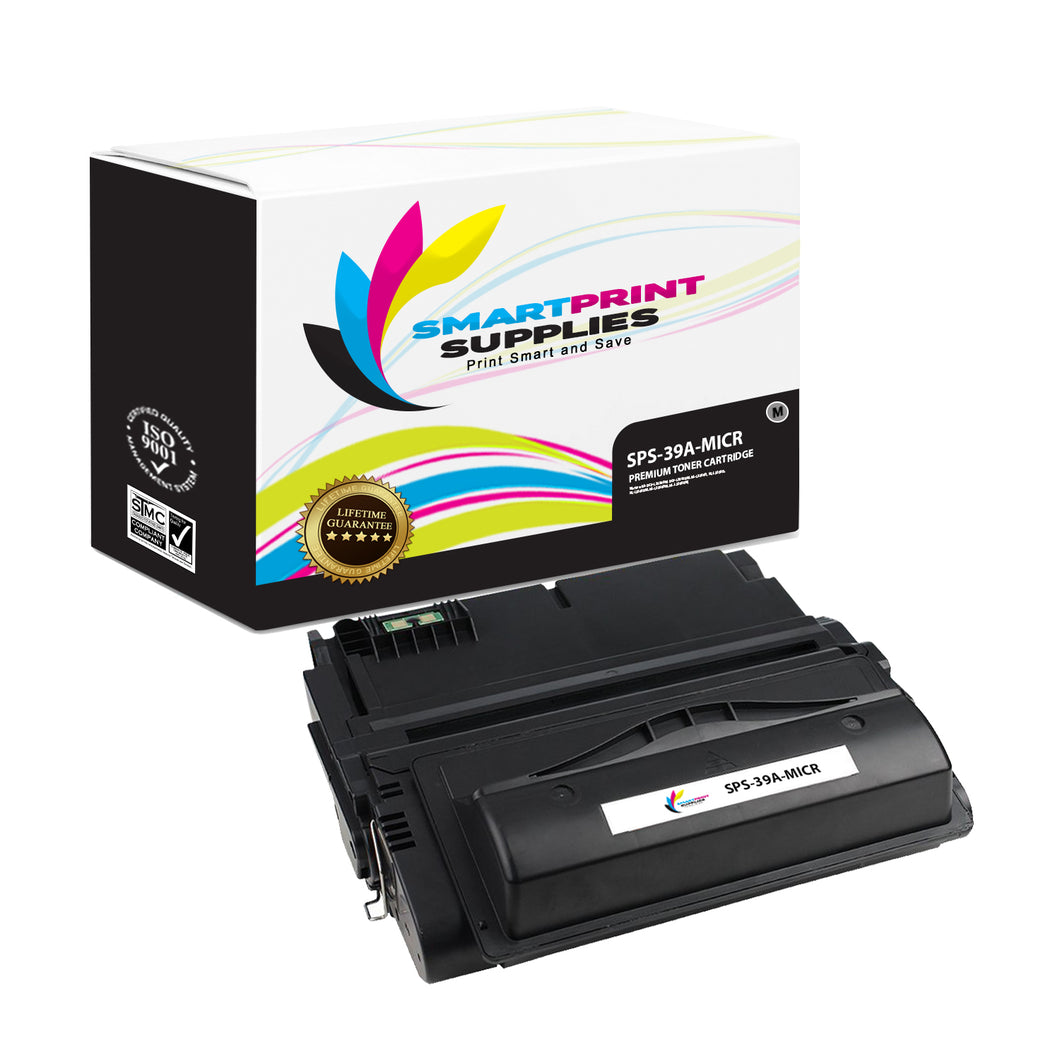HP 39A Q1339A Replacement Black MICR Toner Cartridge by Smart Print Supplies