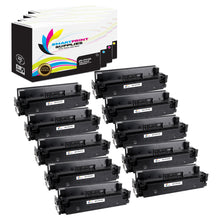 10 Pack HP 410A 4 Colors Toner Cartridge Replacement By Smart Print Supplies