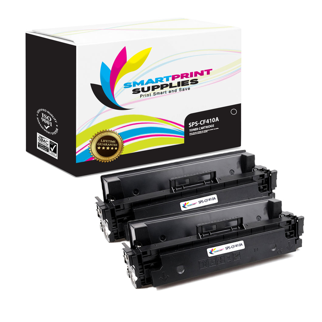 Smart Print Supplies 410A CF410A Replacement Black Toner Cartridge Two Pack