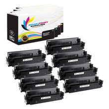8 Pack HP 410A Replacement (CMYK) Toner Cartridge by Smart Print Supplies
