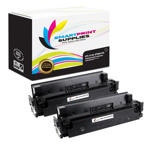 2 Pack HP 410X CF410X Premium Replacement Black High Yield Toner Cartridge by Smart Print Supplies
