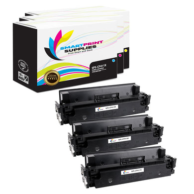 3 Pack HP 410X Replacement (CMY) High Yield Toner Cartridge by Smart Print Supplies