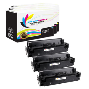 Smart Print Supplies 410X Replacement Colour Toner Cartridge Three Pack