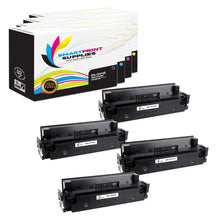 HP 410X Replacement 4 Colors Toner Cartridge by Smart Print Supplies /6,500 per black cartridge, and 5,000 per color cartridge Pages