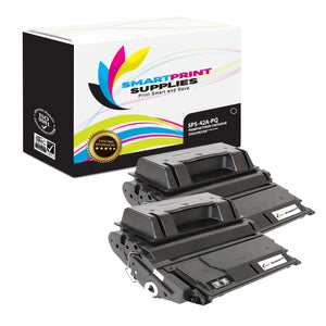 2 Pack HP 42A Q5942A Premium Replacement Black Toner Cartridge by Smart Print Supplies