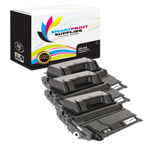 3 Pack HP 42A Black Toner Cartridge Replacement By Smart Print Supplies