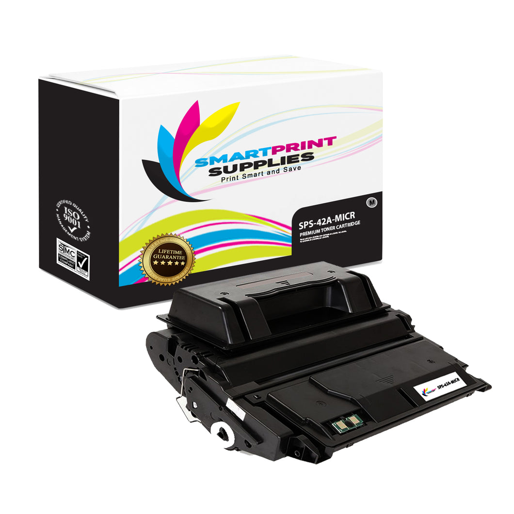 HP 42A Q5942A Replacement Black MICR Toner Cartridge by Smart Print Supplies