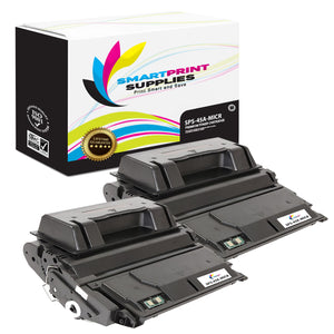 2 Pack HP 45A Q5945A Replacement Black MICR Toner Cartridge by Smart Print Supplies