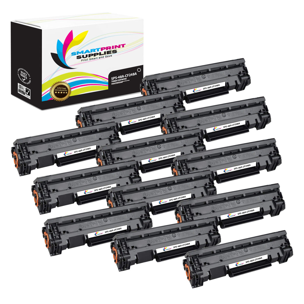 12 Pack HP 48A Black Toner Cartridge Replacement By Smart Print Supplies