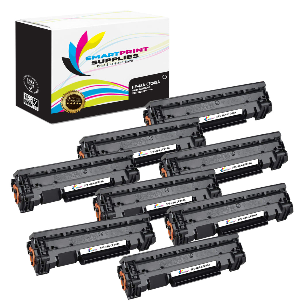8 Pack HP 48A Black Toner Cartridge Replacement By Smart Print Supplies