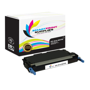 1 Pack HP 501A/502A Black Toner Cartridge Replacement By Smart Print Supplies