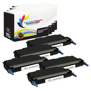 5 Pack HP 501A/502A 4 Colors Toner Cartridge Replacement By Smart Print Supplies