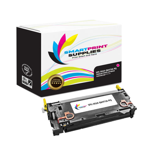 1 Pack HP 501A/502A Premium Replacement Magenta Toner Cartridge by Smart Print Supplies