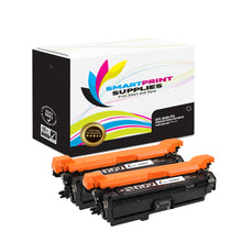 2 Pack HP 504A/504X CE250A Premium Replacement Black Toner Cartridge by Smart Print Supplies