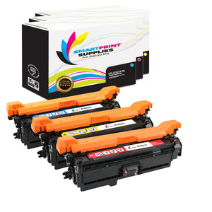 3 Pack HP 504A/504X Premium Replacement (CMY) Toner Cartridge by Smart Print Supplies