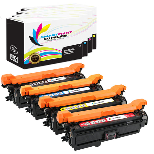 4 Pack HP 504A/504X 4 Colors Toner Cartridge Replacement By Smart Print Supplies