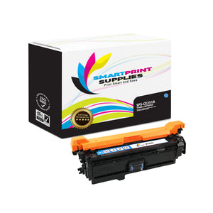 HP 504A/504X CE251A Replacement Cyan Toner Cartridge by Smart Print Supplies
