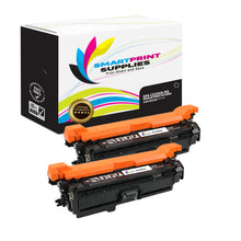 2 Pack HP 504A/504X CE250X Premium Replacement Black Toner Cartridge by Smart Print Supplies