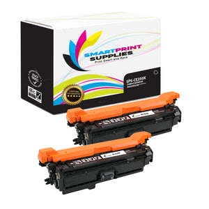 2 Pack HP 504A/504X CE250X Replacement Black Toner Cartridge by Smart Print Supplies