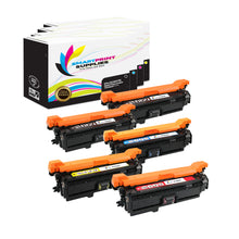 5 Pack HP 504X Premium Replacement (CMYK) Toner Cartridge by Smart Print Supplies
