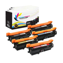 5 Pack HP 504X Replacement (CMYK) Toner Cartridge by Smart Print Supplies