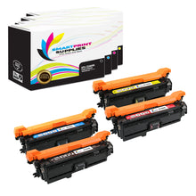 4 Pack HP 507A/507X Replacement (CMYK) Toner Cartridge by Smart Print Supplies