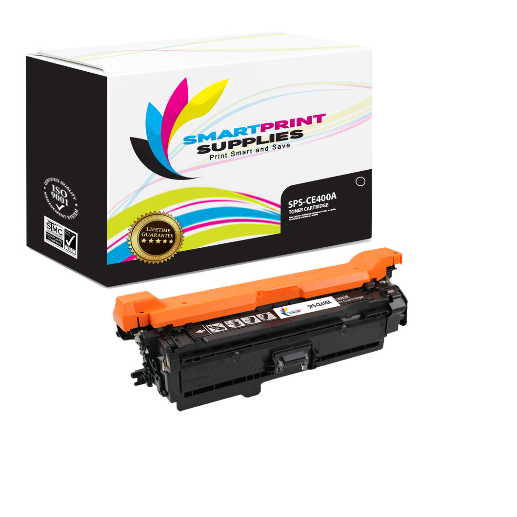 HP 507A/507X CE400A Replacement Black Toner Cartridge by Smart Print Supplies
