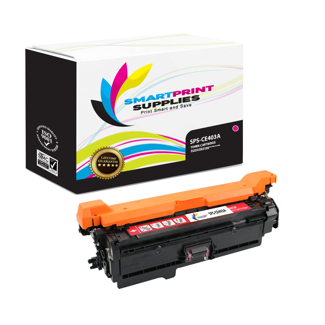 HP 507A/507X CE403A Replacement Magenta Toner Cartridge by Smart Print Supplies