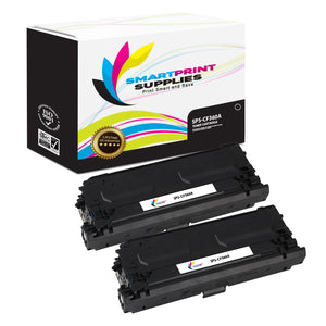 2 Pack HP 508A CF360A Replacement Black Toner Cartridge by Smart Print Supplies
