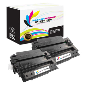 2 Pack HP 51X Q7551X Premium Replacement Black Toner Cartridge by Smart Print Supplies