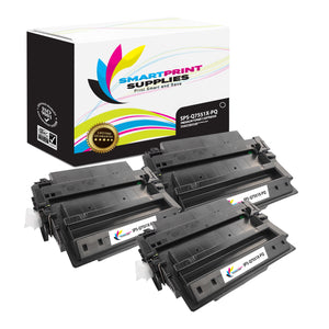 3 Pack HP 51X Q7551X Premium Replacement Black Toner Cartridge by Smart Print Supplies