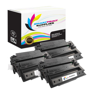 3 Pack HP 51X Q7551X Replacement Black Toner Cartridge by Smart Print Supplies