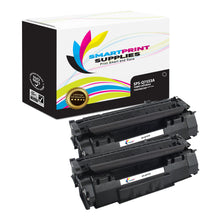 2 Pack HP 53A Q7553A Replacement Black Toner Cartridge by Smart Print Supplies