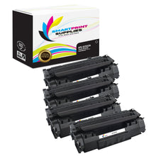 4 Pack HP 53A Q7553A Replacement Black Toner Cartridge by Smart Print Supplies